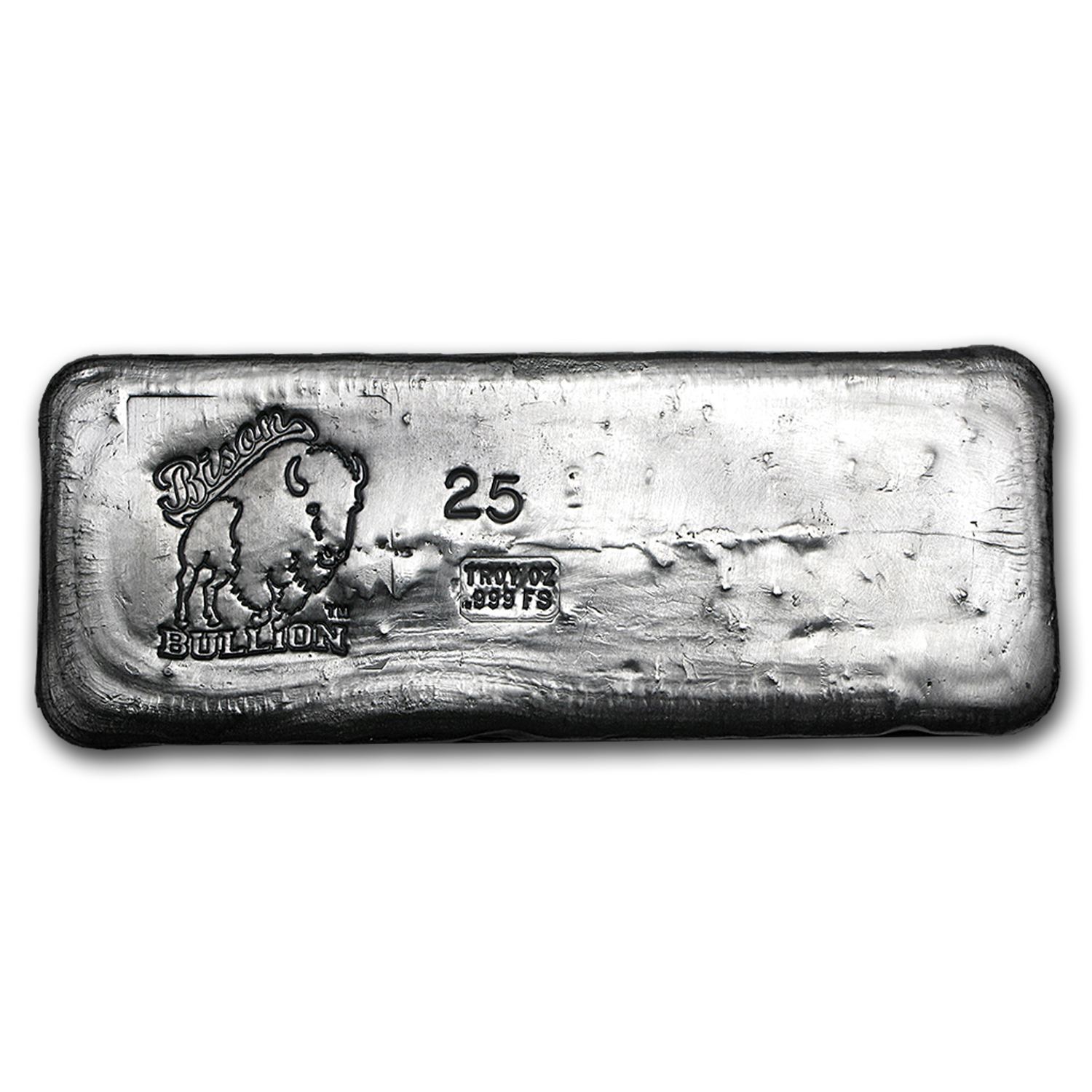 25 oz Silver Bar - Bison Bullion