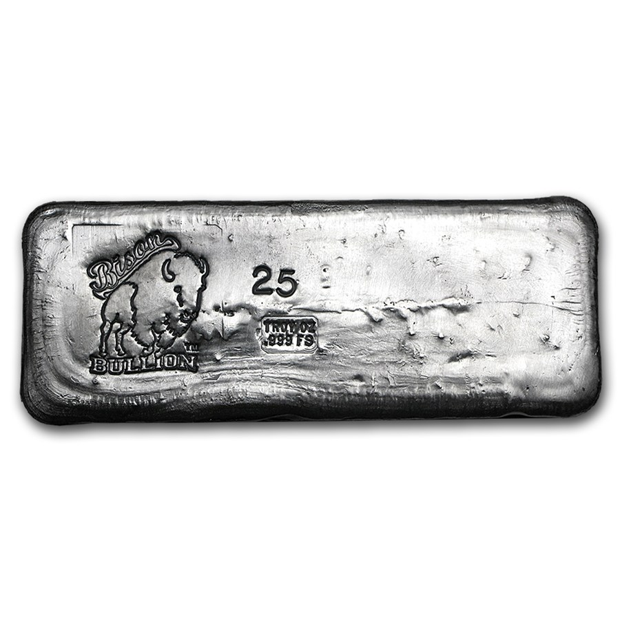 25 Oz Silver Bar Bison Bullion 20 Oz Silver Bars Apmex