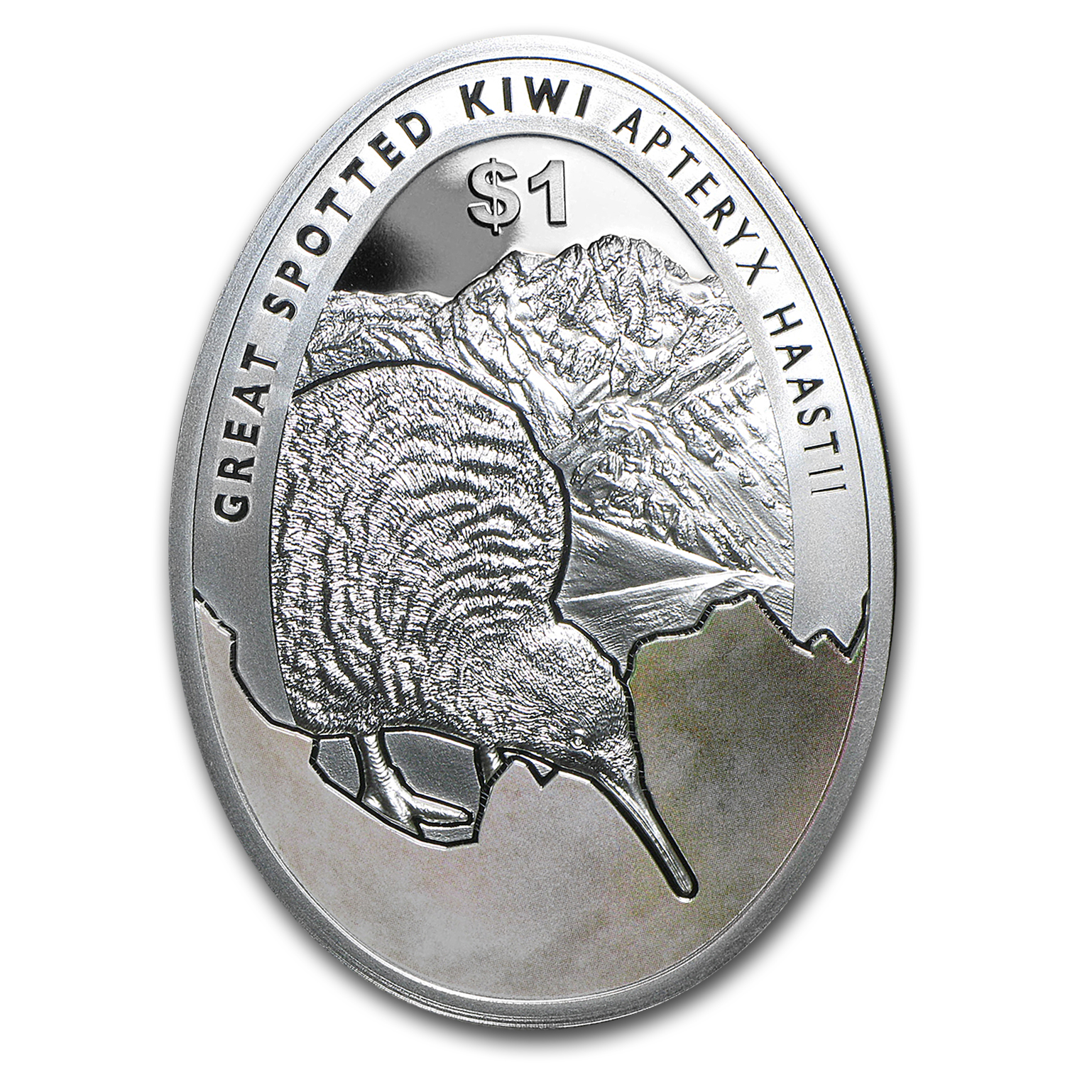 2016 New Zealand 1 oz Silver Kiwi Egg-Shaped Proof (w/Box & COA)