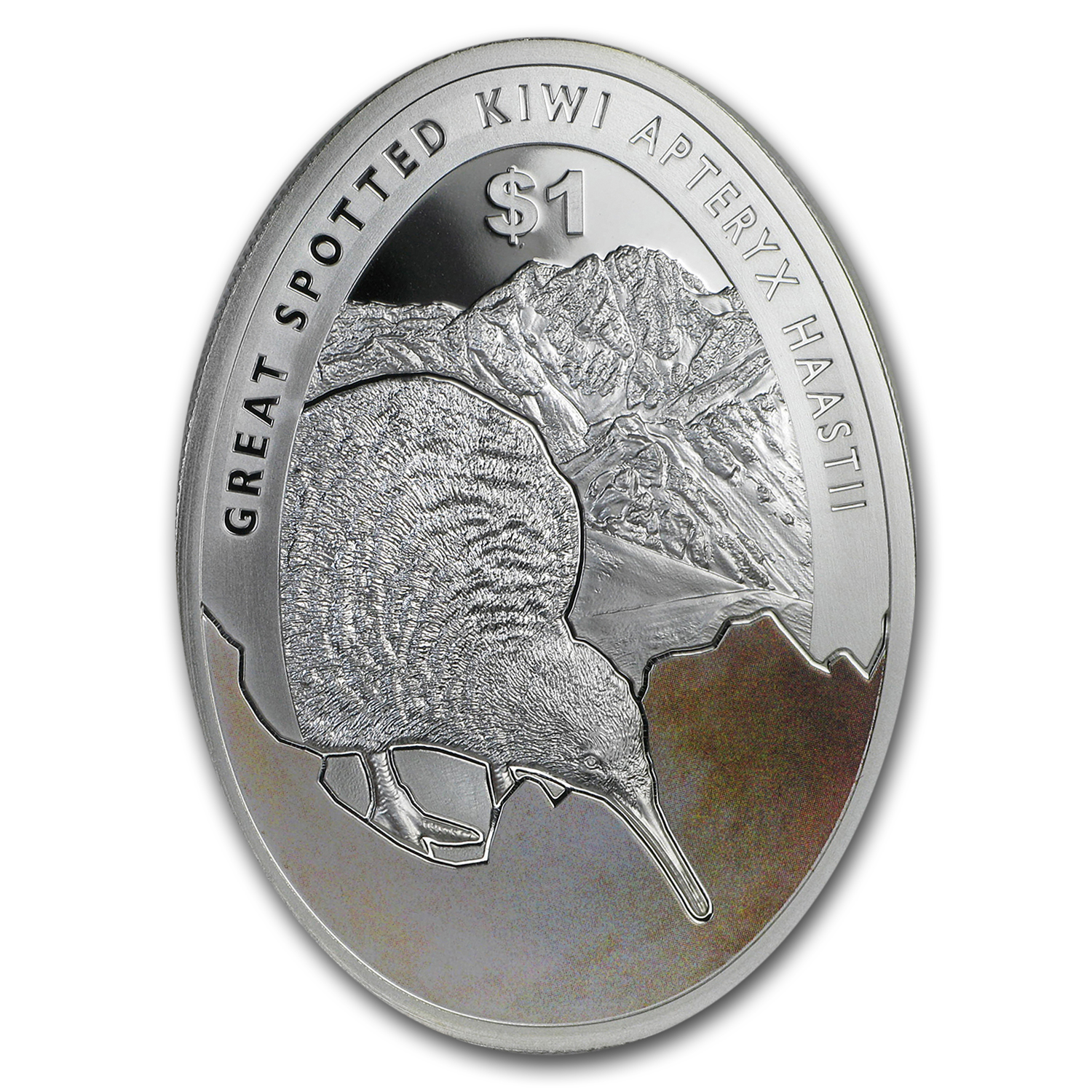 2016 New Zealand 1 oz Silver Kiwi Egg-Shaped Proof Specimen