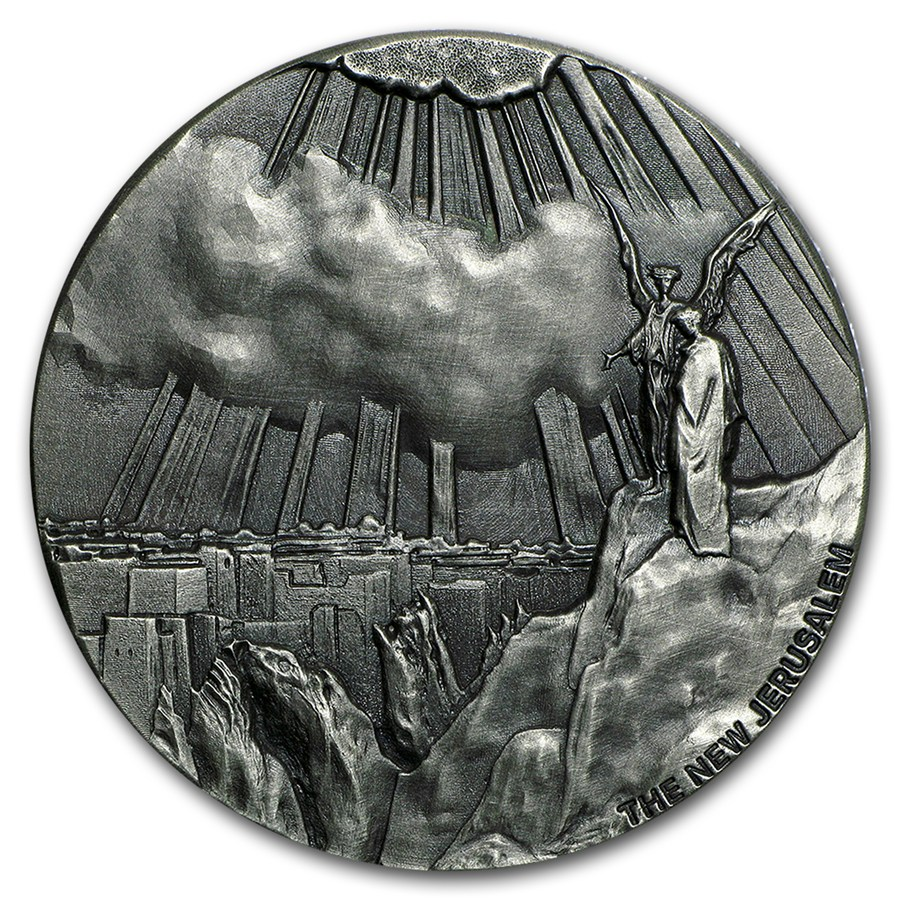 2 Oz Silver Coin Biblical Series New Jerusalem