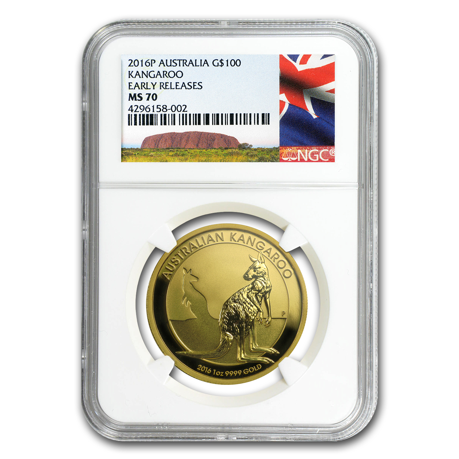 2016 Australia 1 oz Gold Kangaroo MS-70 NGC (Early Release)