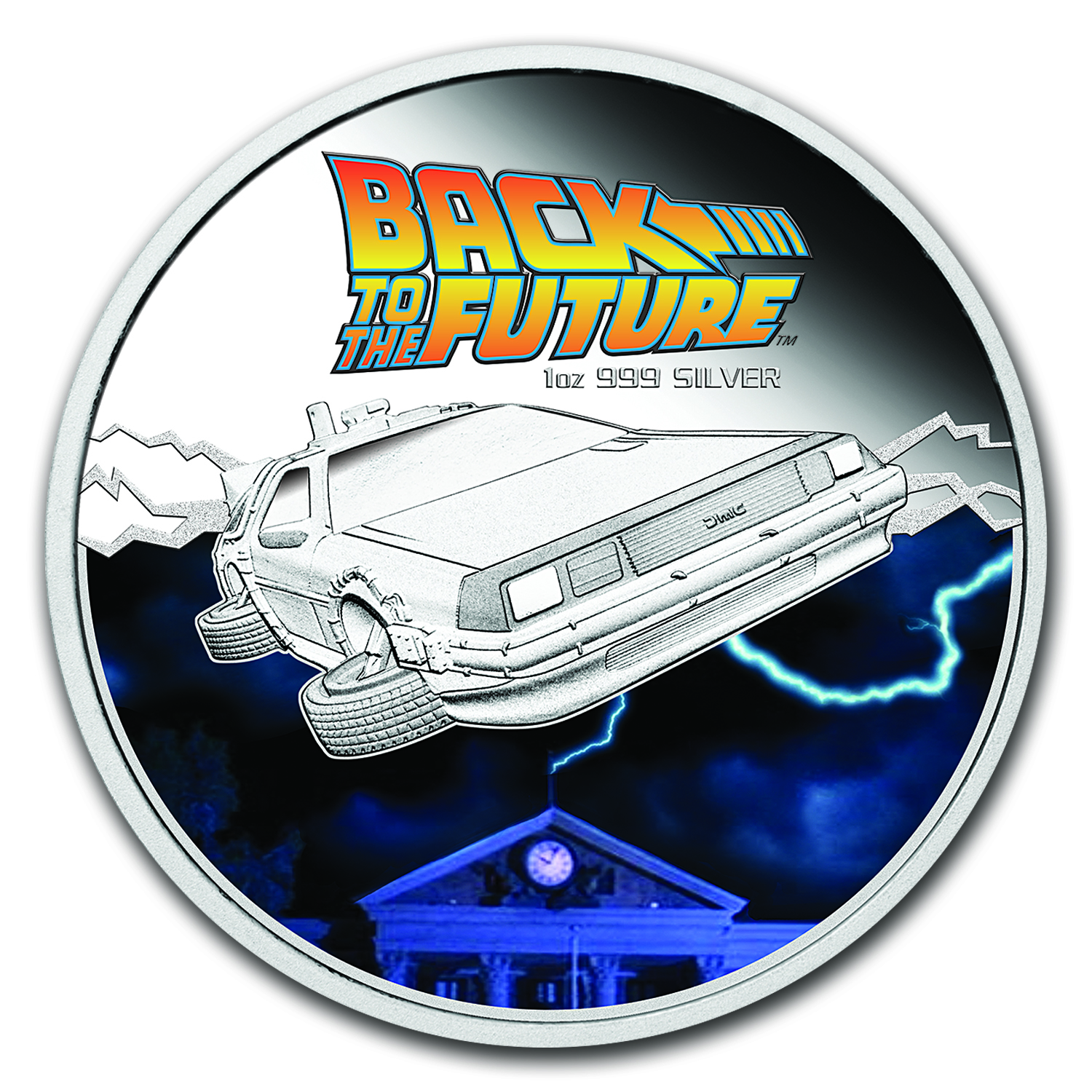 2015 Tuvalu 1 oz Silver Back to the Future Proof