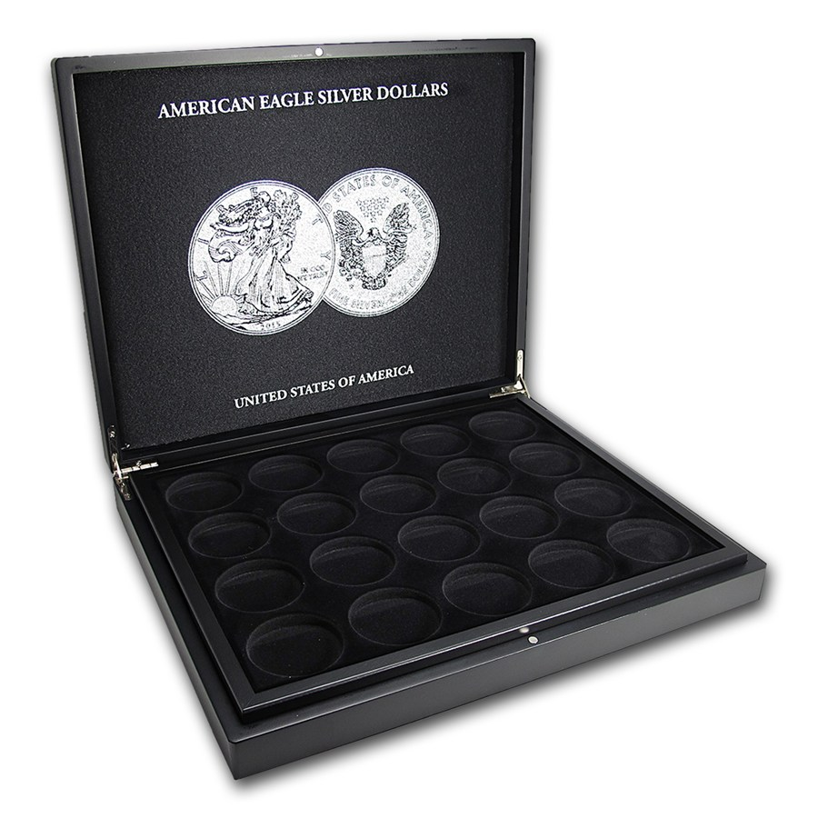 1 oz american silver eagle 40 piece black presentation box. Black Bedroom Furniture Sets. Home Design Ideas
