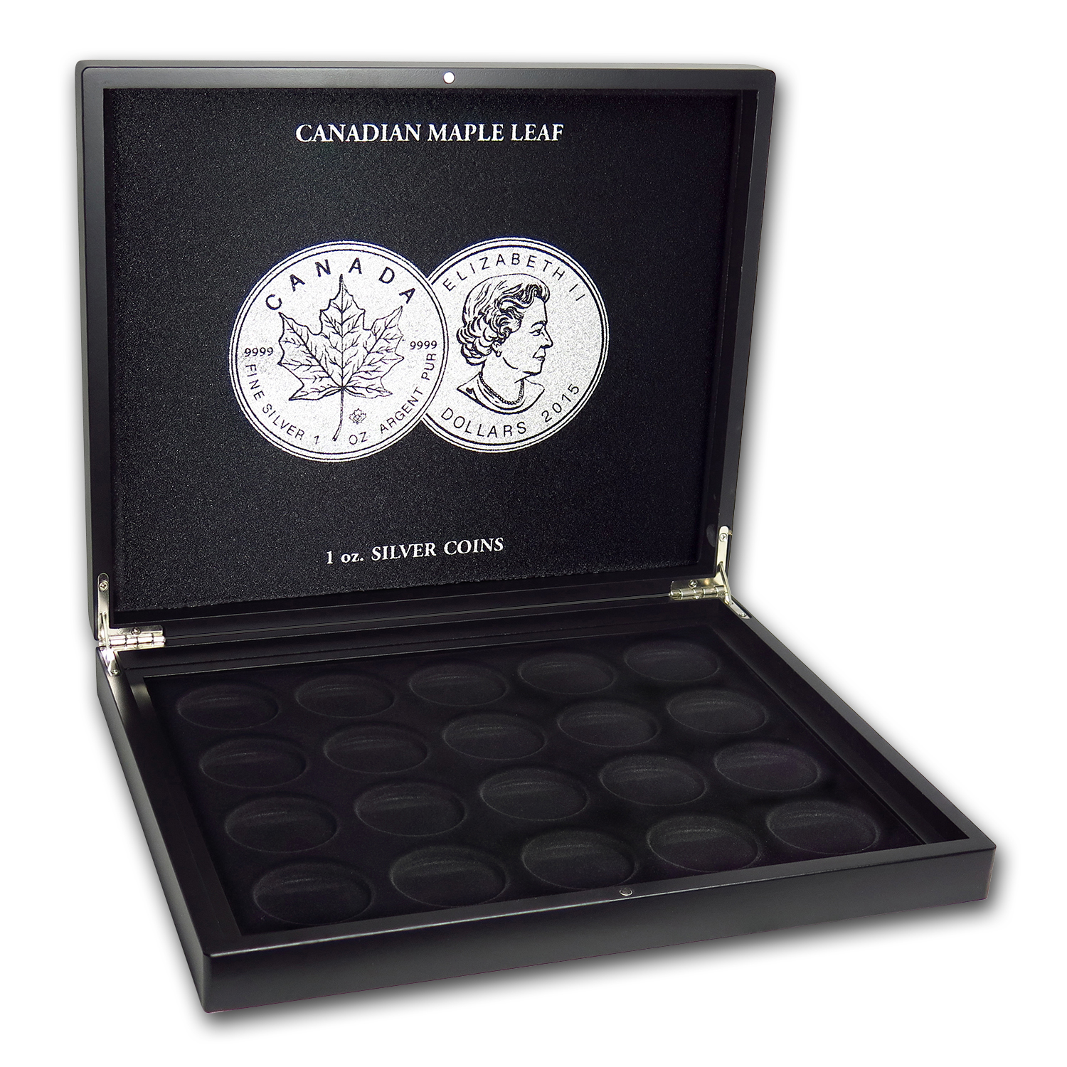 1 oz Canadian Silver Maple Leaf 40-Piece Black Presentation Box