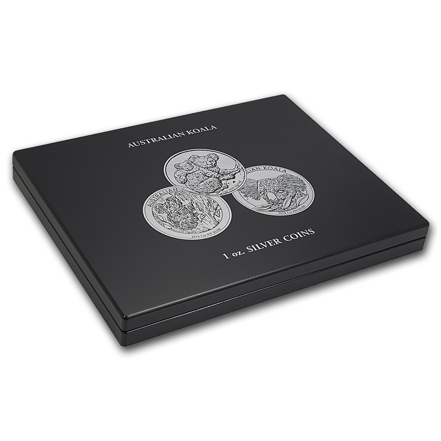 1 oz Australian Silver Koala 20-Piece Black Presentation Box