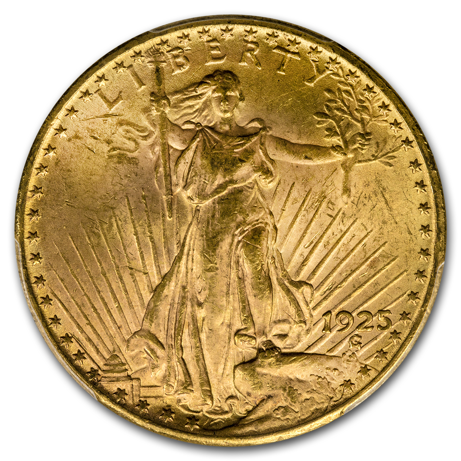 1925 $20 St. Gaudens Gold Double Eagle MS-63 PCGS (DDR FS-801)