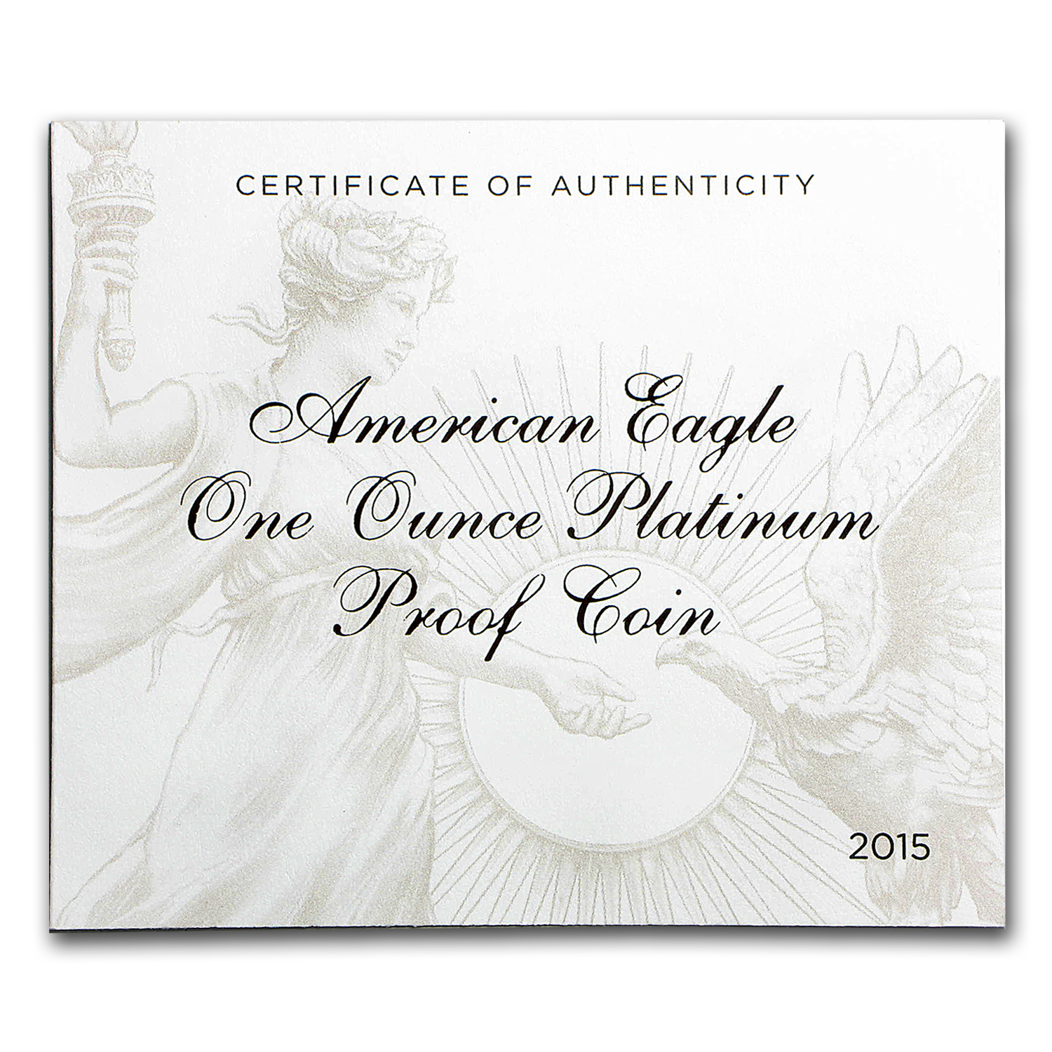 2015-W 1 oz Proof Platinum American Eagle (w/Box & COA)