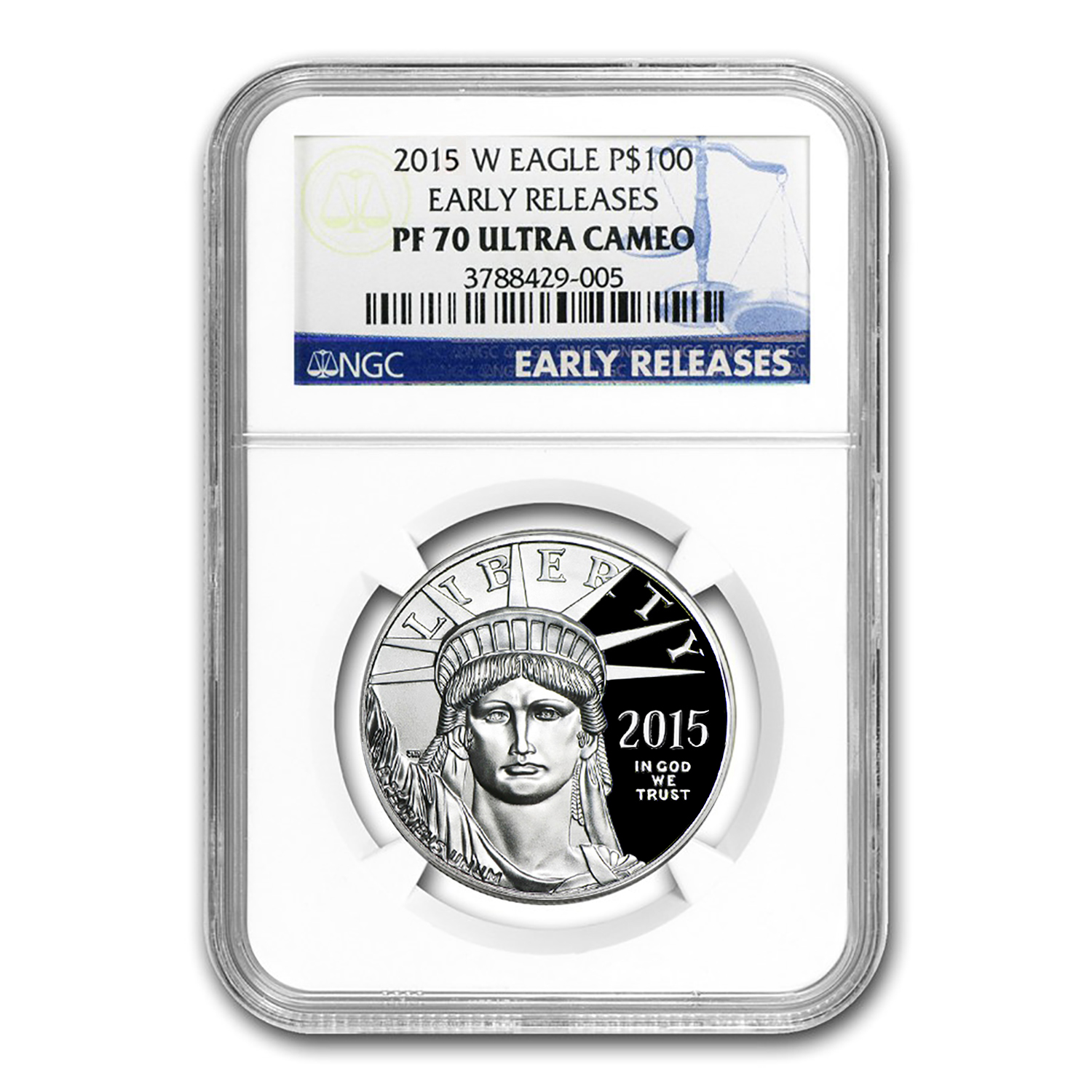 2015-W 1 oz Proof Platinum American Eagle PF-70 NGC (ER)