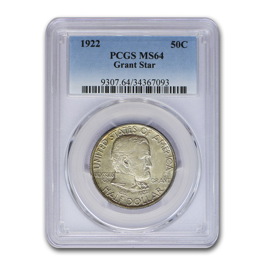 1922 Grant Memorial Half Dollar w/Star MS-64 PCGS
