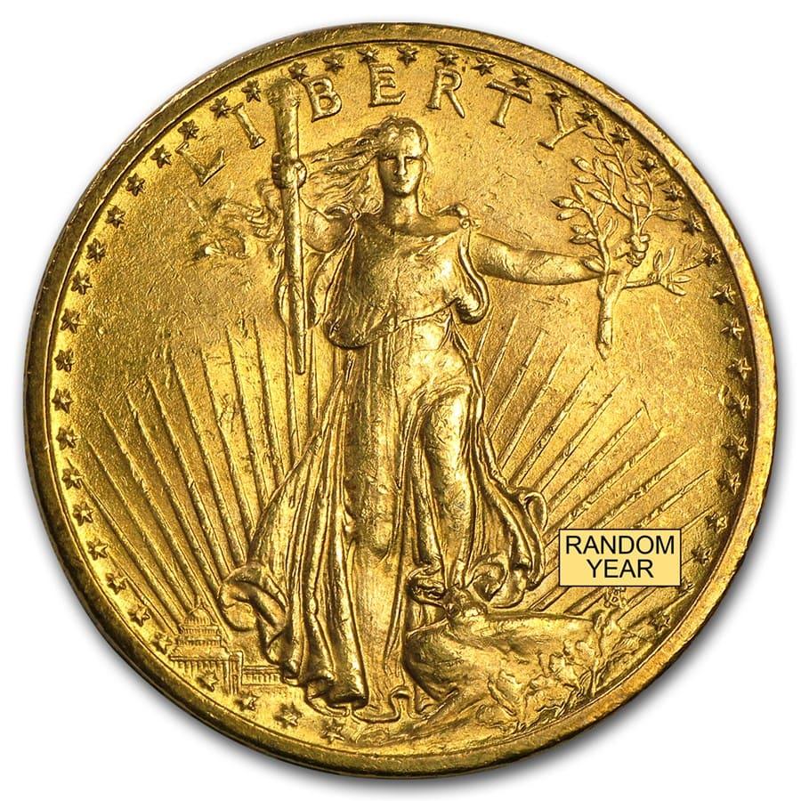 20 Saint Gaudens Gold Double Eagle Vf Pre 1933 U S