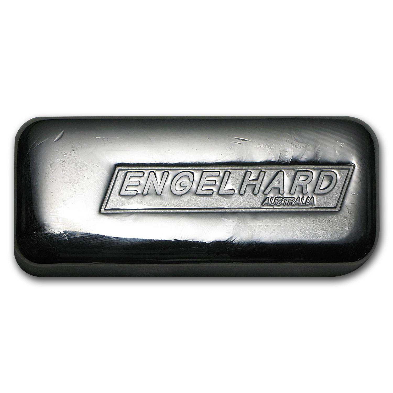 10 Oz Silver Bar Engelhard Australia Cast New Gold