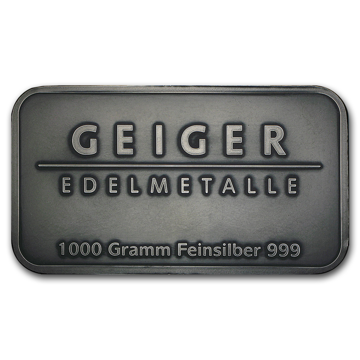1 kilo Silver Bar - Geiger (Antique Finish/1,000 Gram)