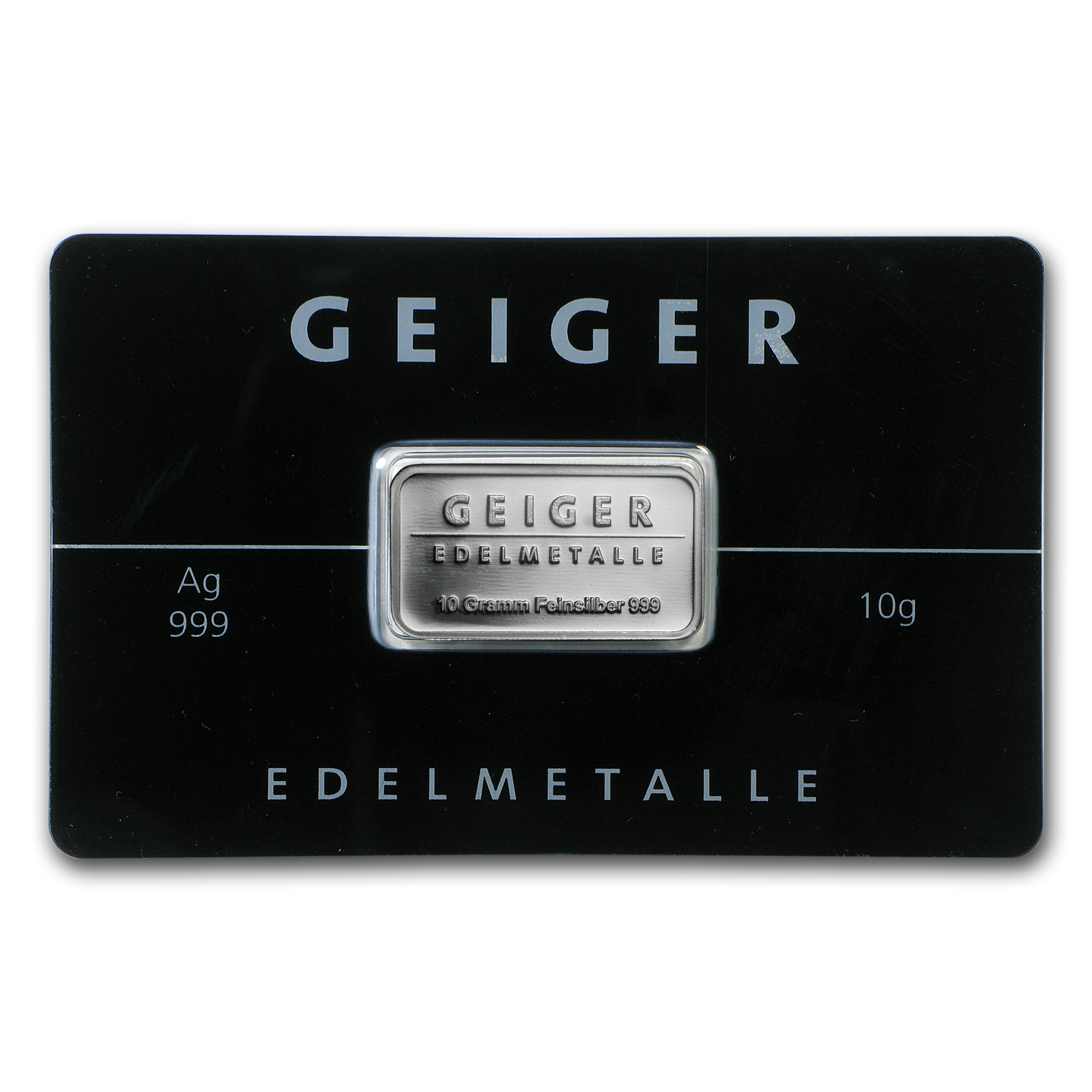 10 gram Silver Bar - Geiger Edelmetalle (Mirror Finish/In Assay)