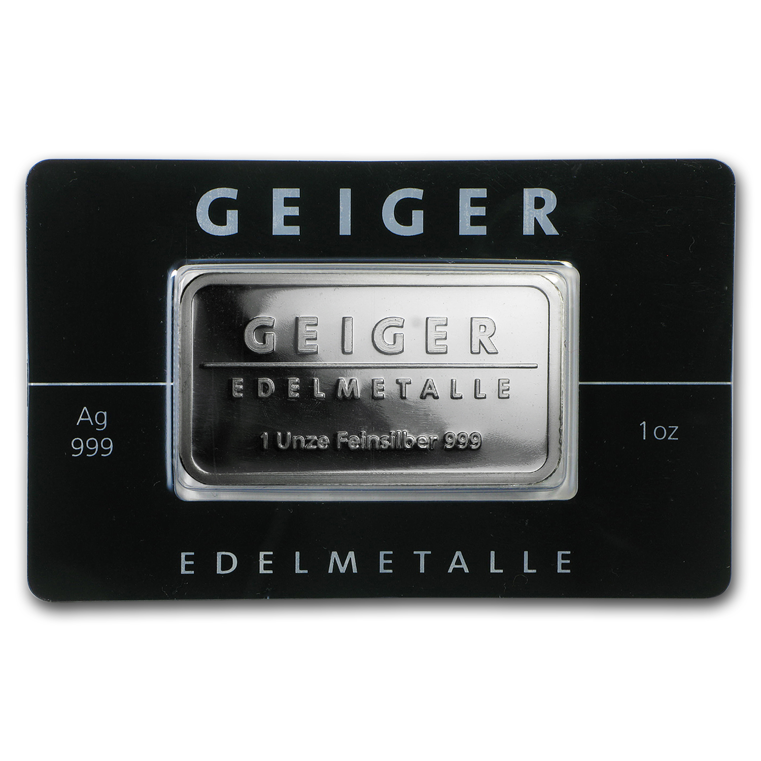 1 Oz Silver Bar Geiger Edelmetalle Mirror Finish In