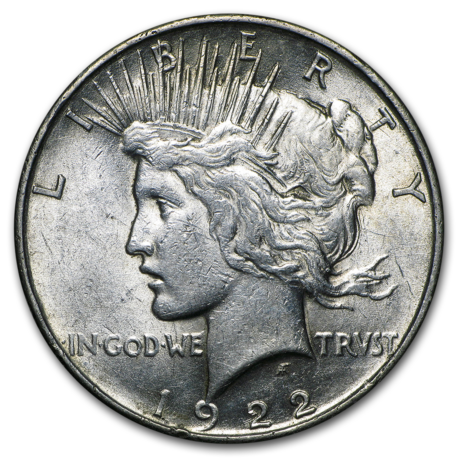 1922 Peace Dollar AU (VAM-1F EDS Field Die Break, Top-50)
