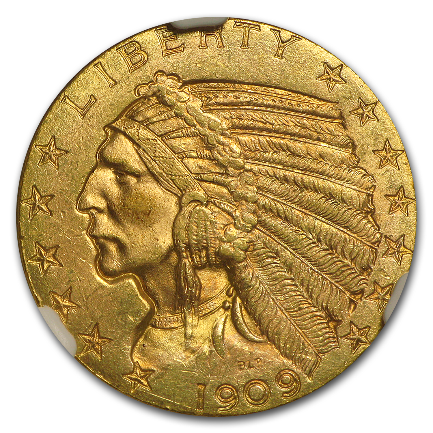 $5 Indian Gold Half Eagle MS-65 NGC
