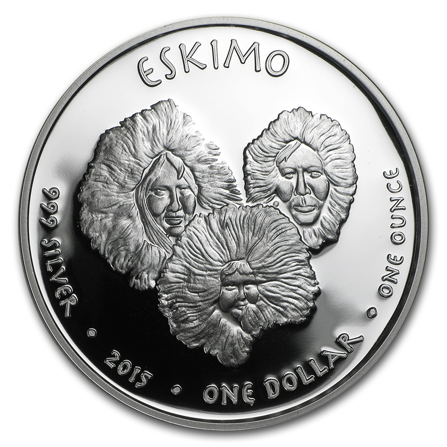 2015 1 oz Silver Proof State Dollars Alaska Eskimo