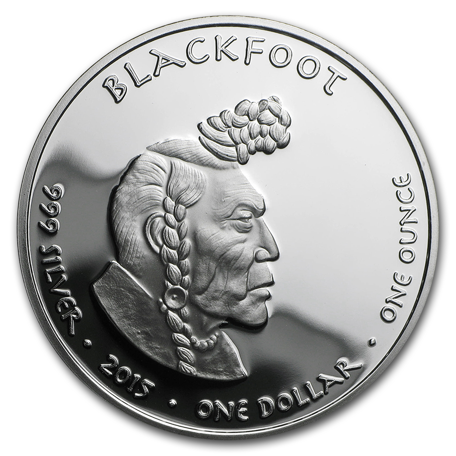 2015 1 oz Silver Proof State Dollars Idaho Blackfoot