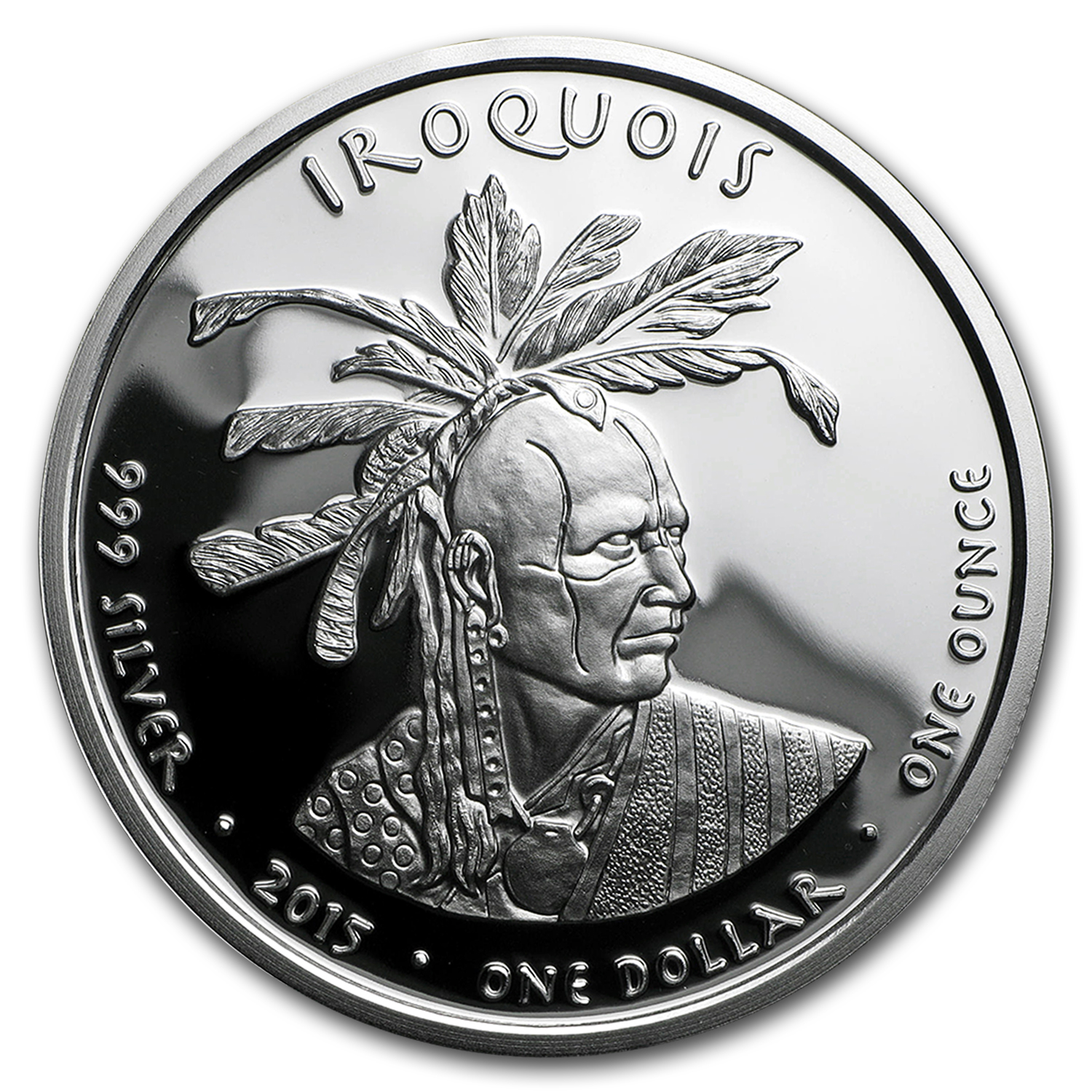 2015 1 oz Silver Proof State Dollars Pennsylvania Iroquois