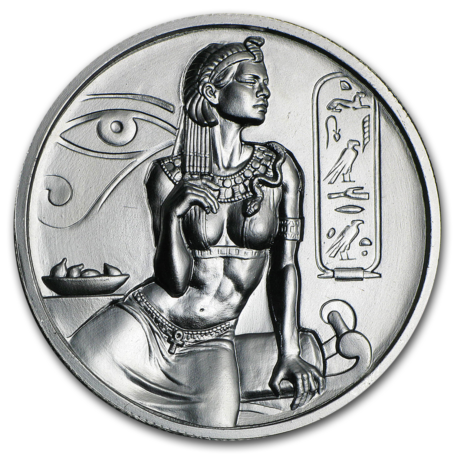 2 oz Silver Round - Cleopatra (Ultra High Relief)