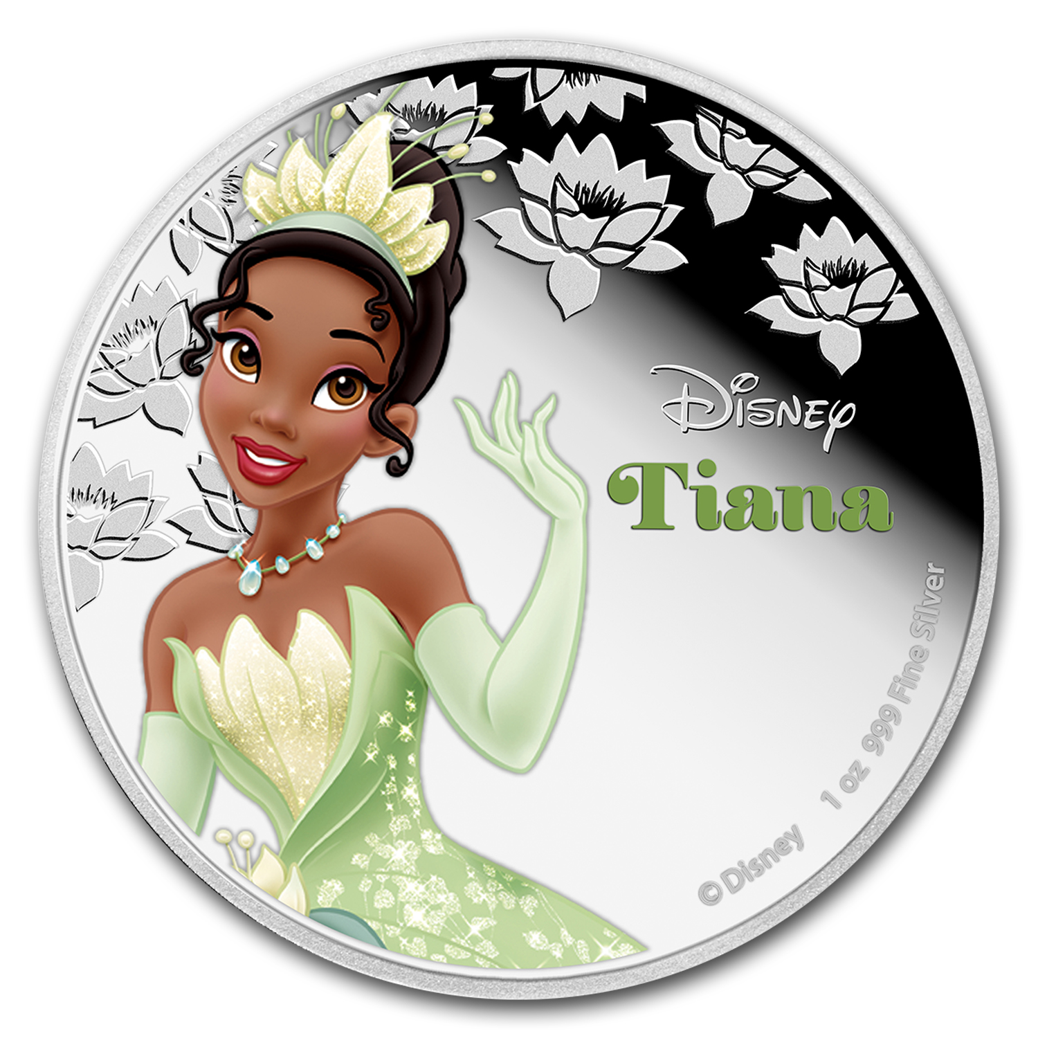 2016 Niue 1 oz Silver $2 Disney Princess Tiana