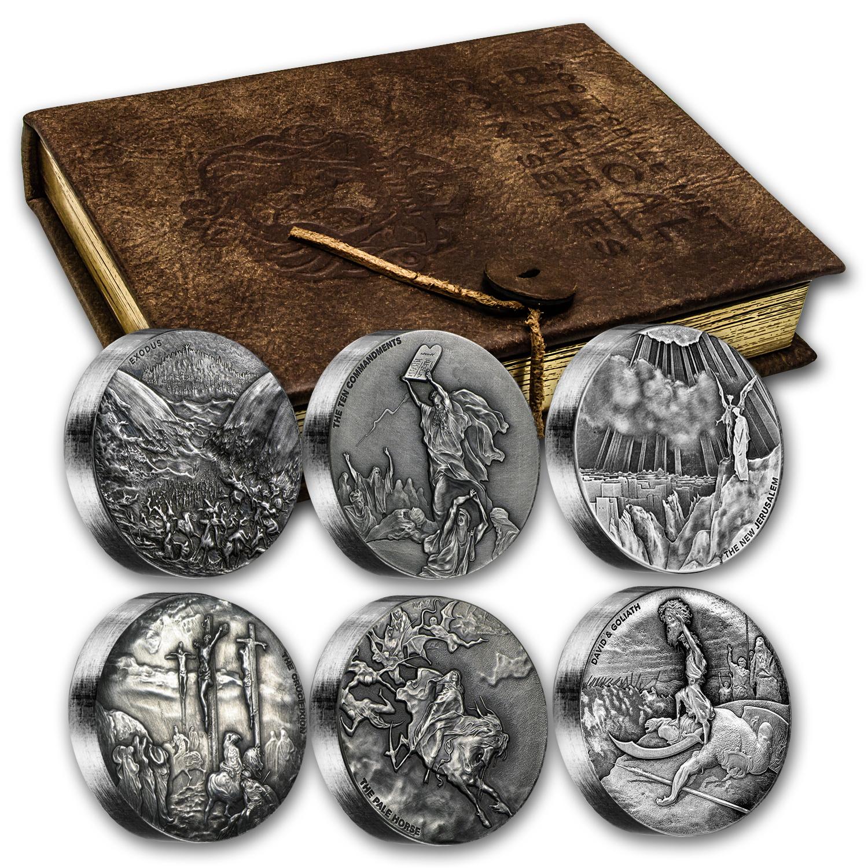 2015 6 Coin Silver Set Biblical Series Matching Serial