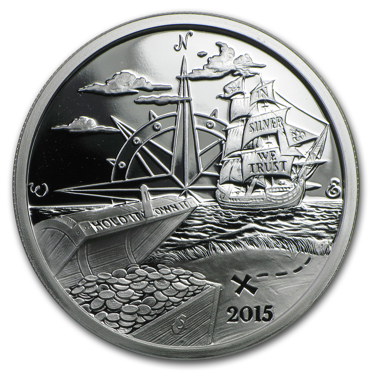 1 oz Silver Proof Round - 2015 Finding Silverbug Island