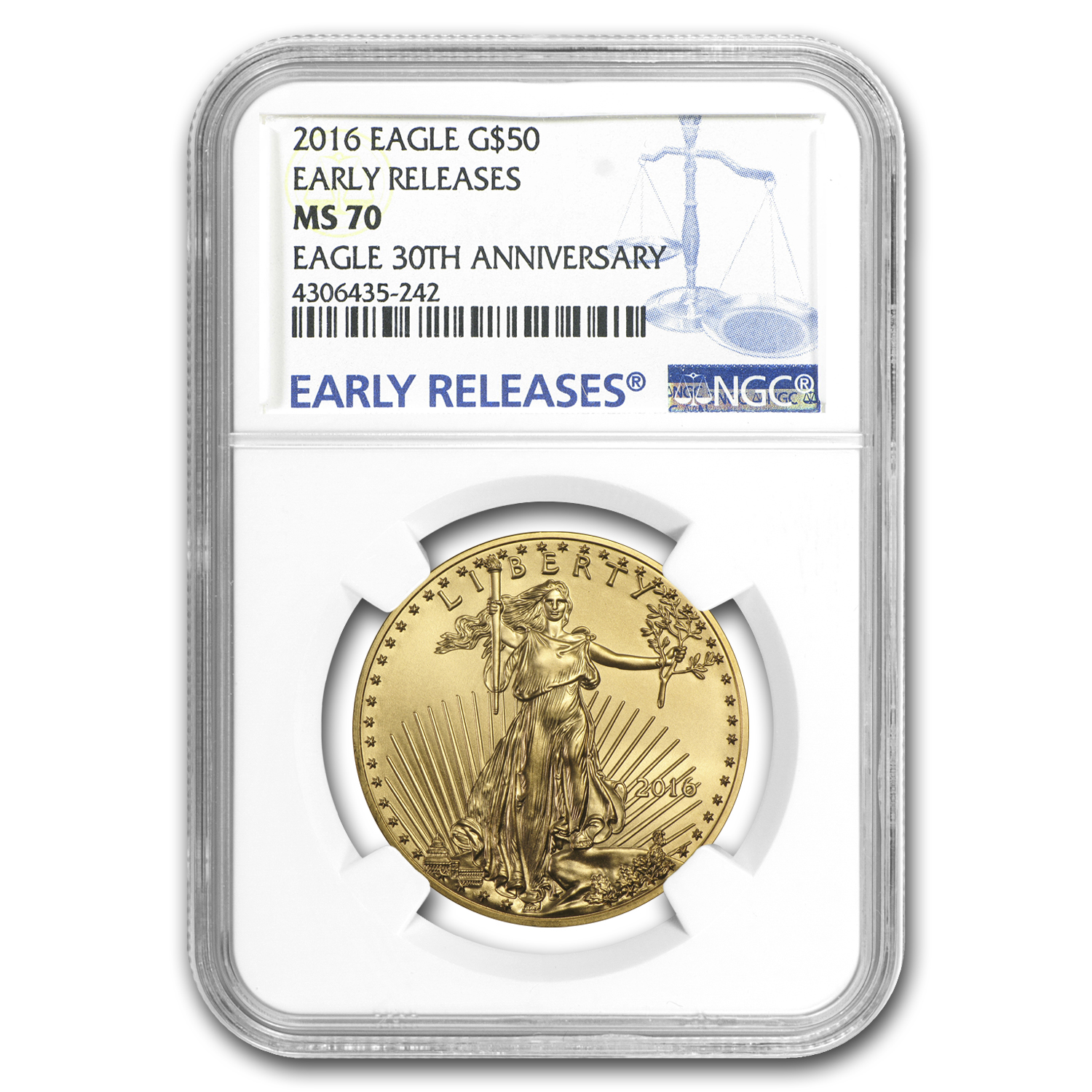 2016 4-Coin Gold American Eagle Set MS-70 NGC (ER)