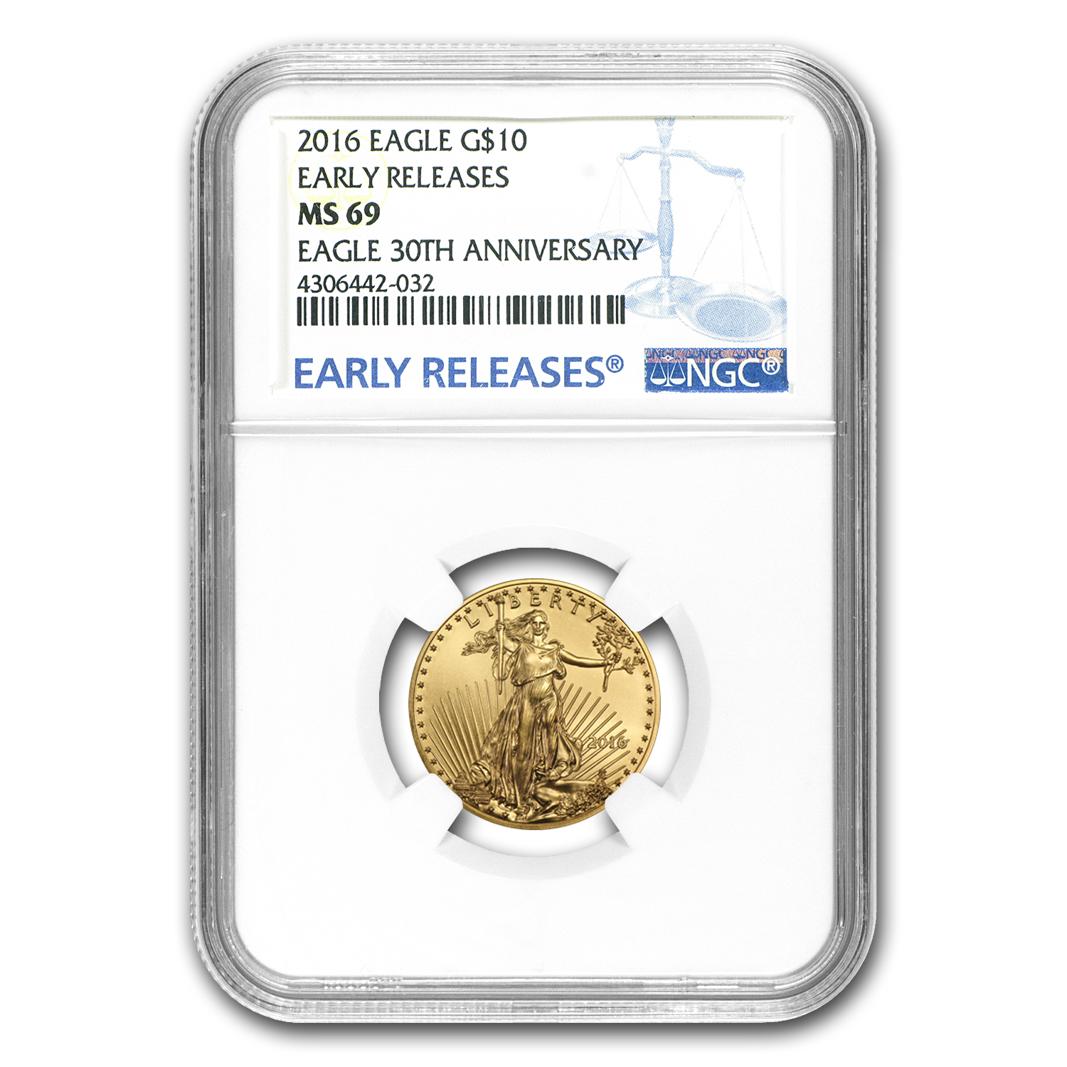 2016 1/4 oz Gold American Eagle MS-69 NGC (Early Releases)