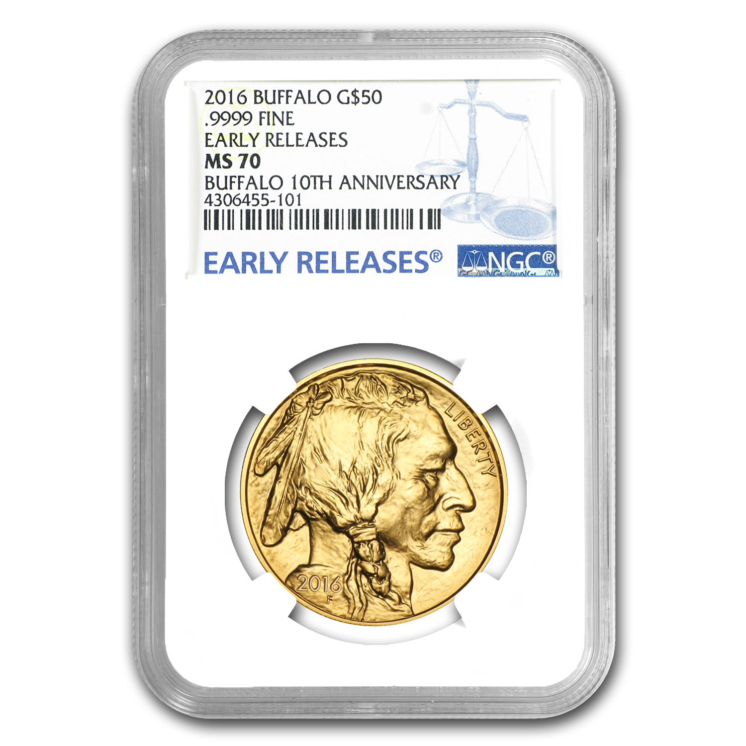 2016 1 oz Gold Buffalo MS-70 NGC (Early Releases)