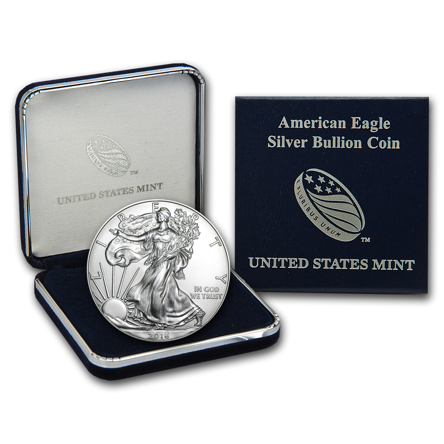 2016 1 oz Silver American Eagle BU (w/U.S. Mint Box)