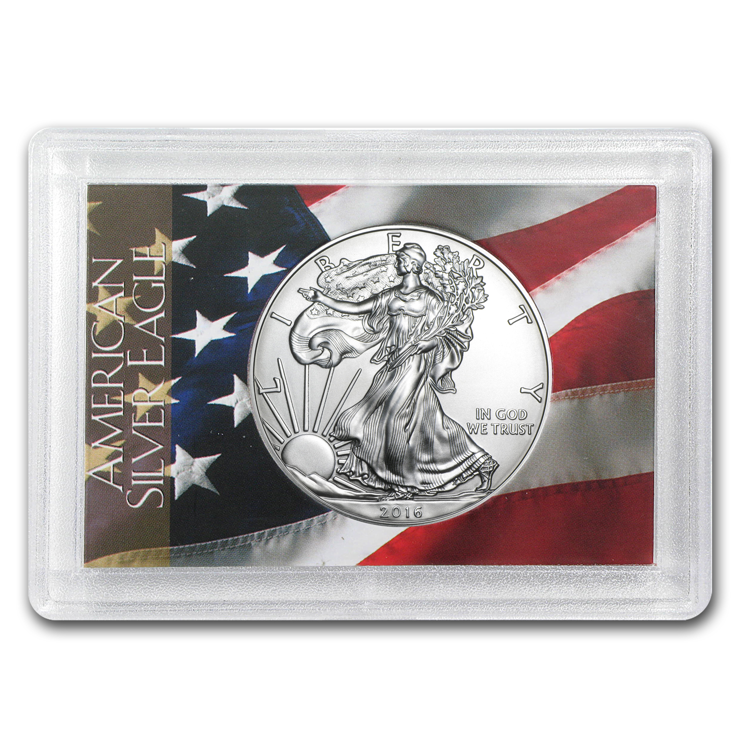 2016 1 oz Silver American Eagle BU (Flag Design, Harris Holder)
