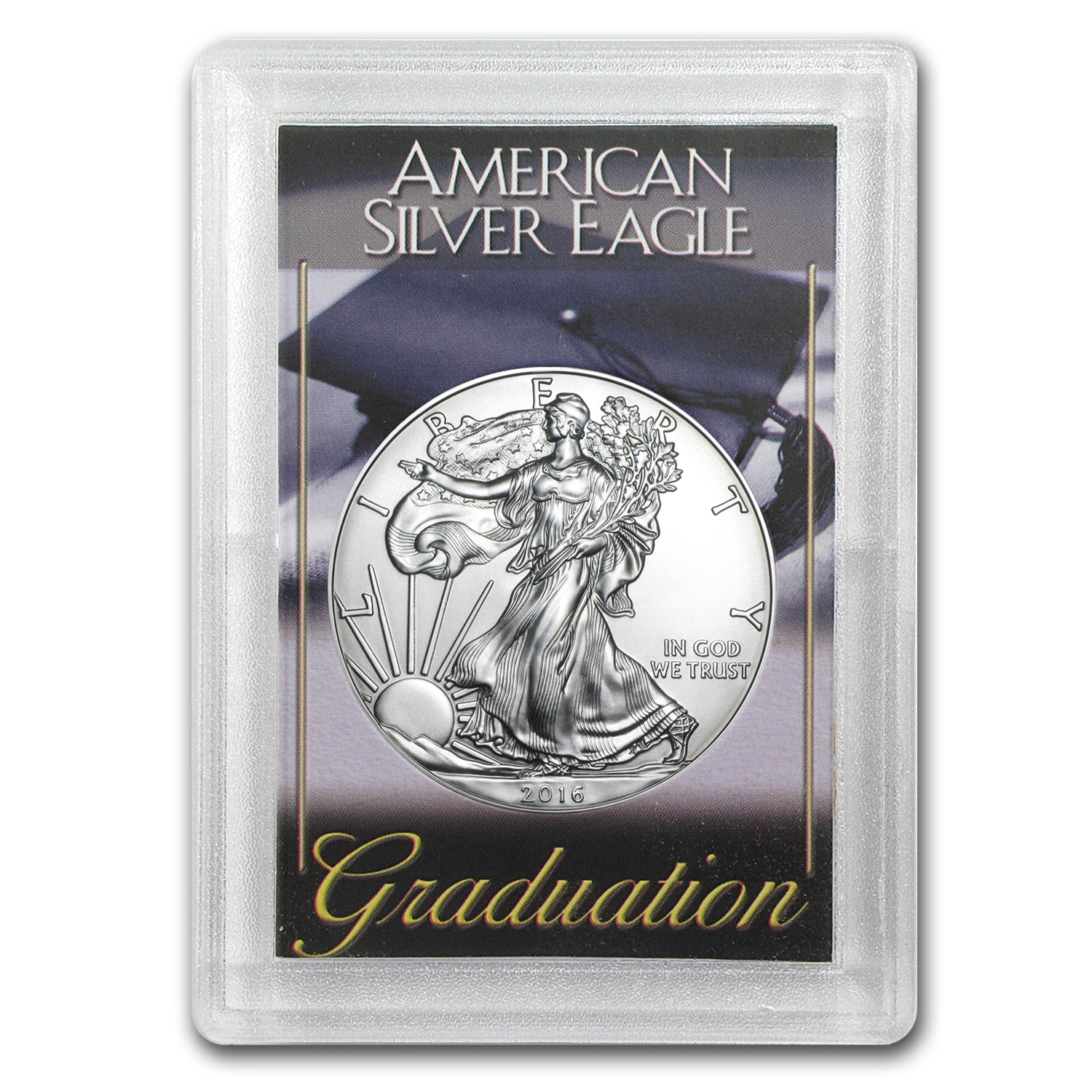 2016 1 oz Silver American Eagle BU (Graduation, Harris Holder)