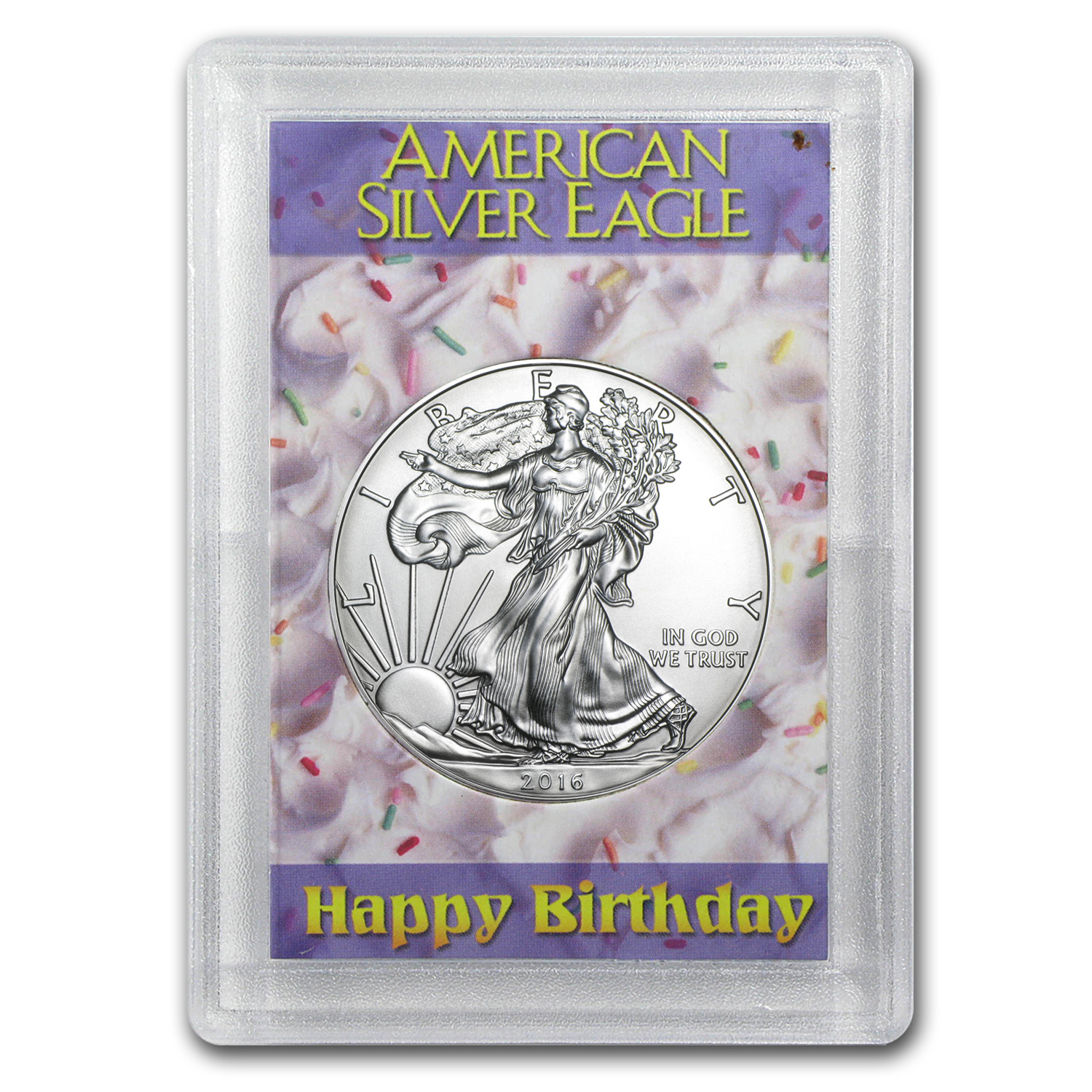 2016 1 oz Silver Eagle BU (Happy Birthday, Harris Holder)