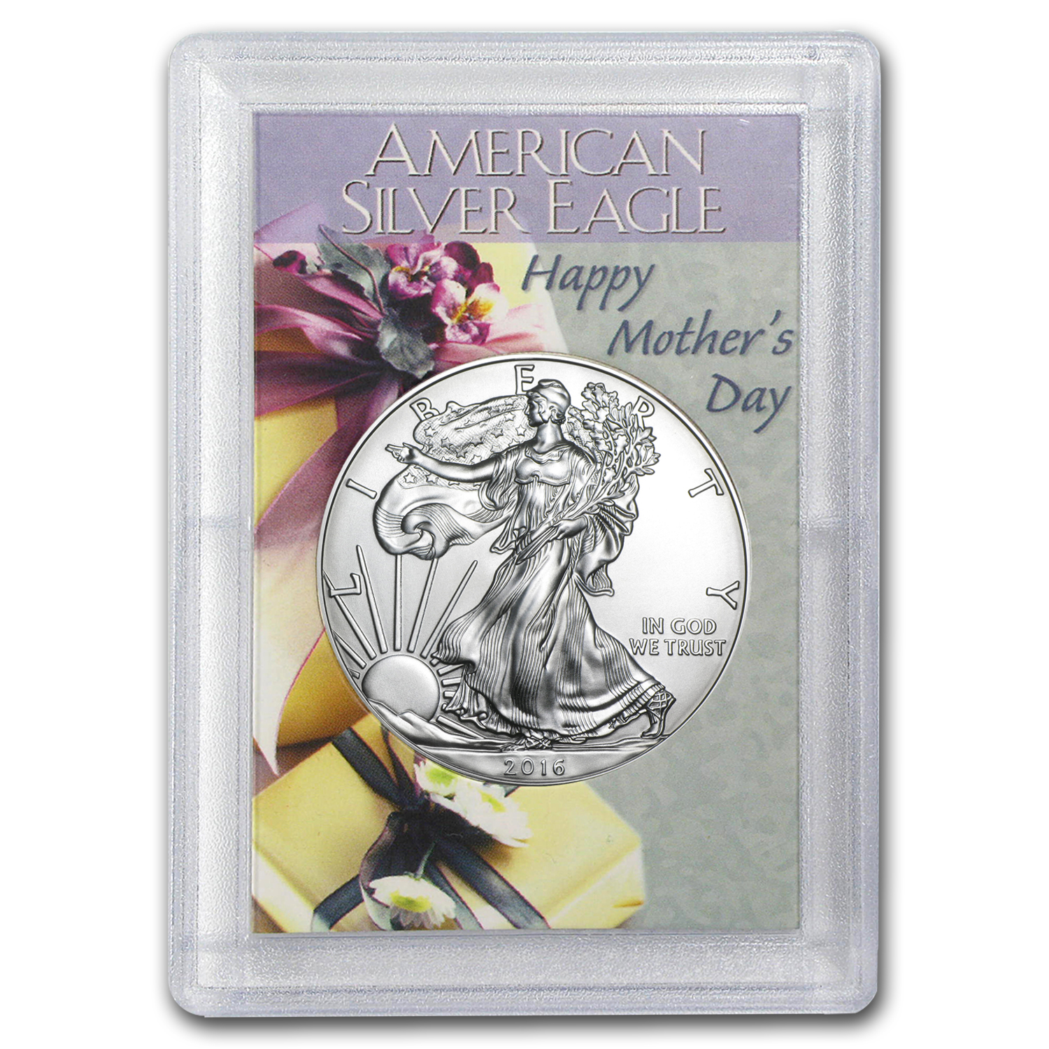 2016 1 oz Silver American Eagle BU (Mother's Day, Harris Holder)