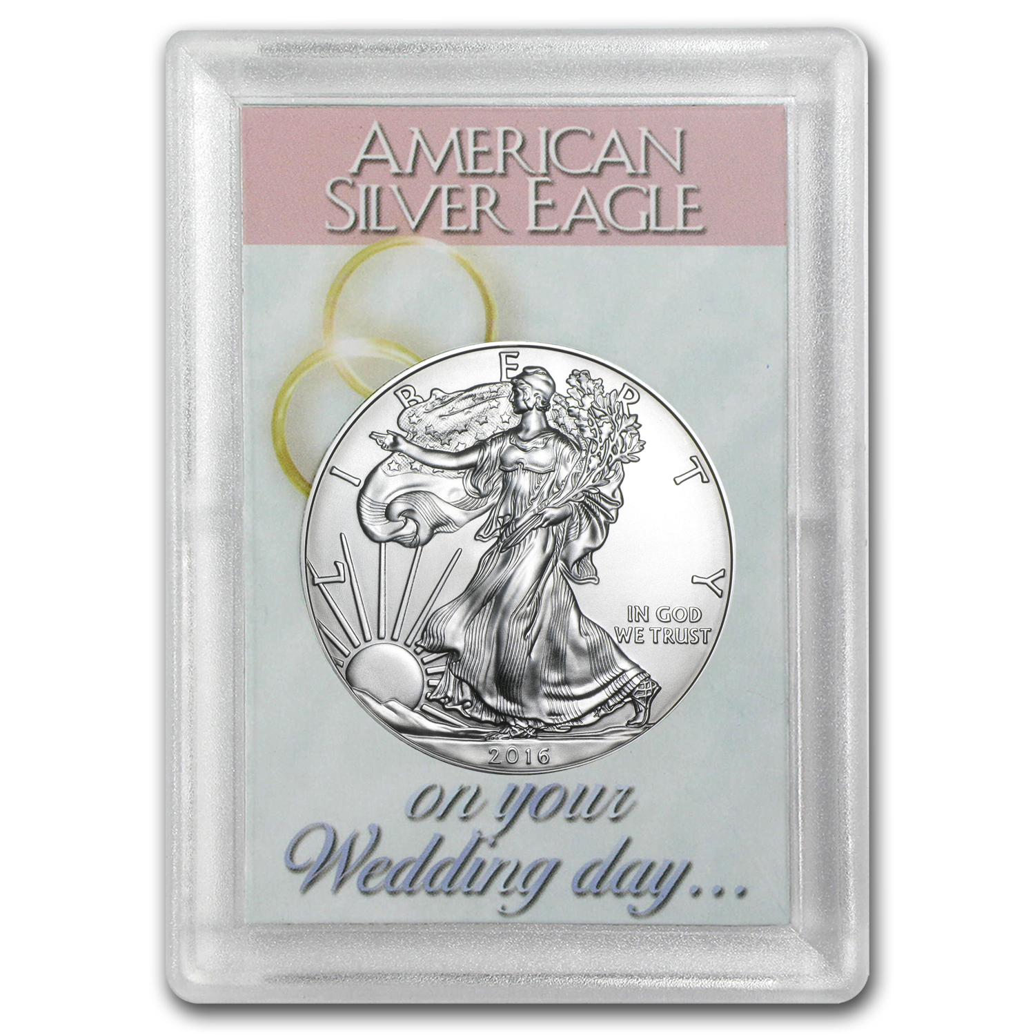 2016 1 oz Silver American Eagle BU (Wedding Day, Harris Holder)