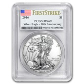 2016 Silver American Eagle MS-69 PCGS (First Strike)