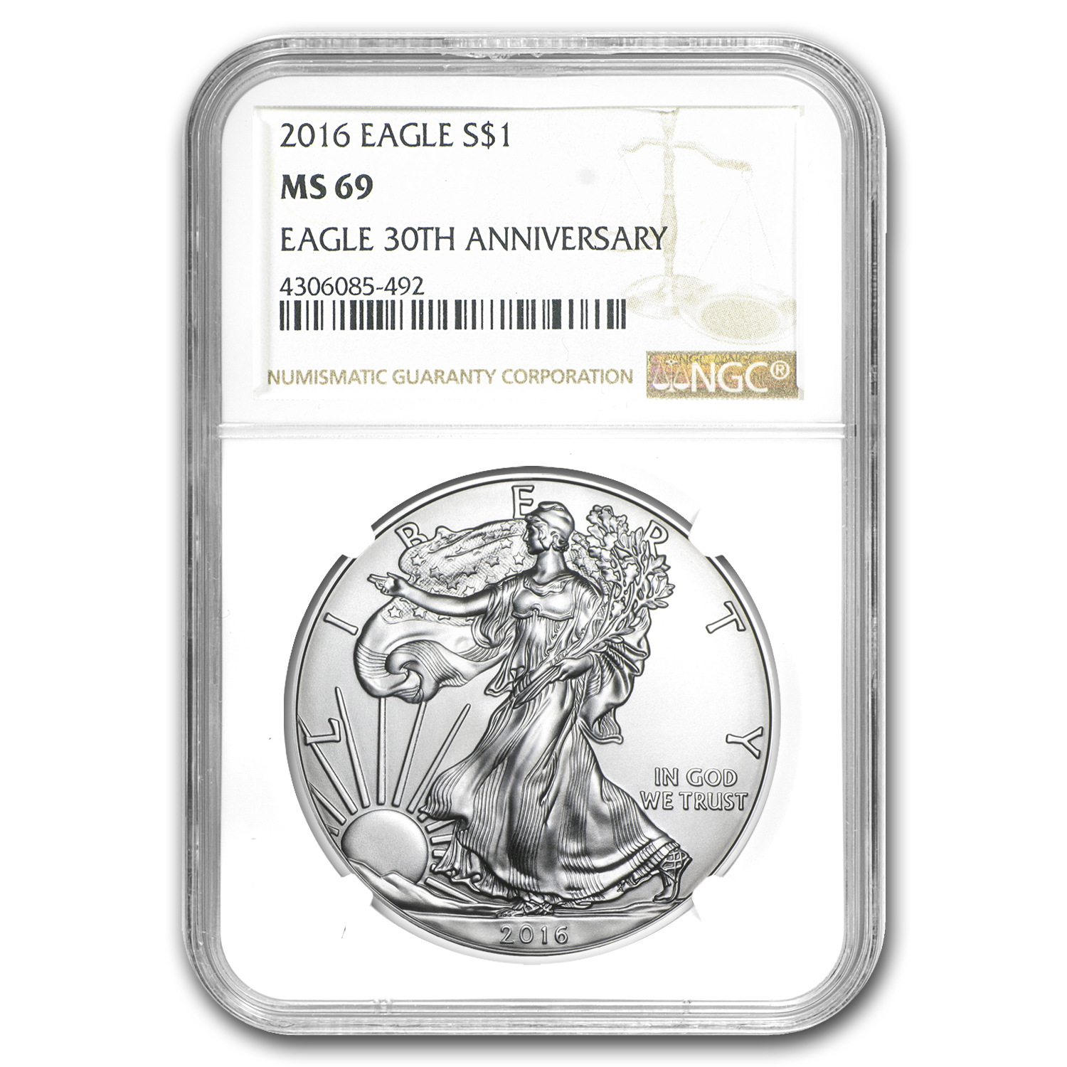 2016 Silver American Eagle MS-69 NGC