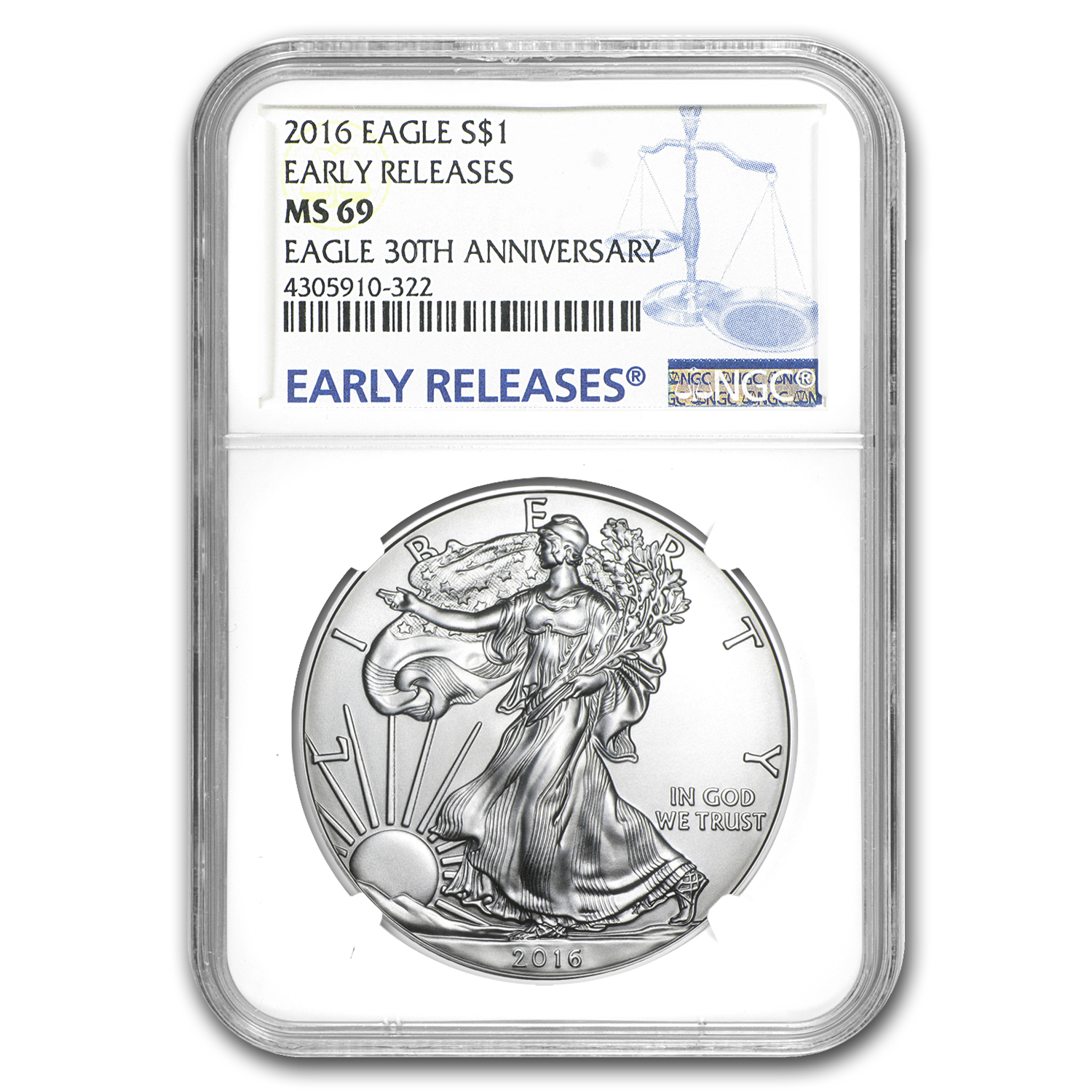 2016 Silver American Eagle MS-69 NGC (Early Releases)