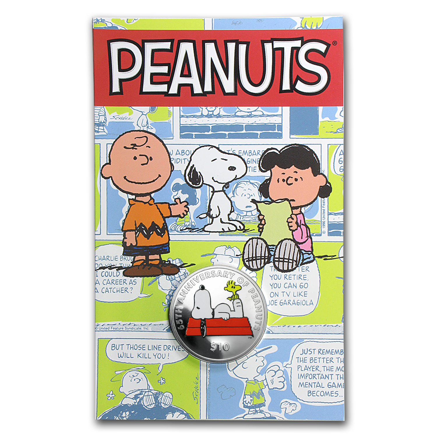 2015 British Virgin Islands 1 oz Silver $10 65th Anniv of Peanuts