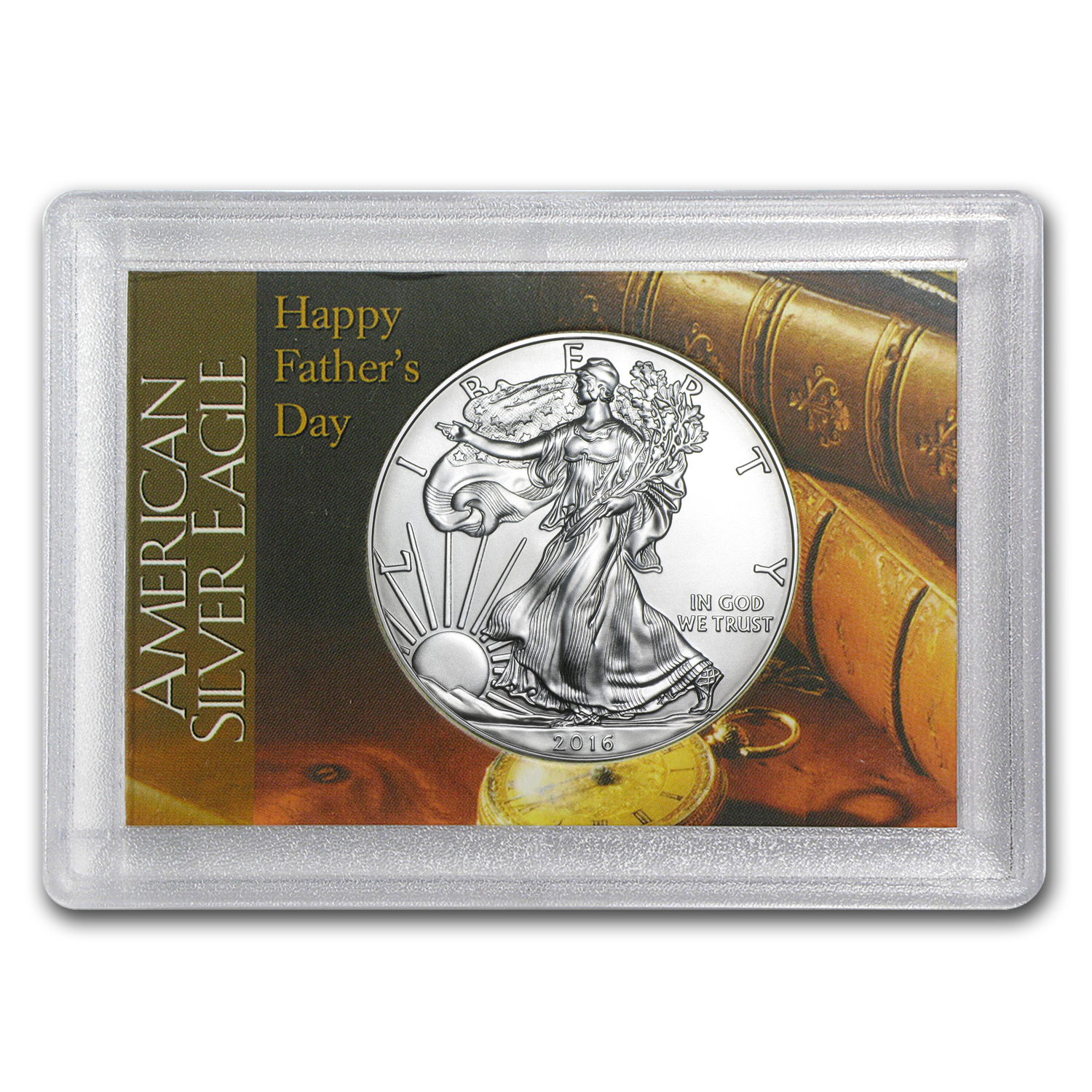 2016 1 oz Silver American Eagle BU (Father's Day, Harris Holder)