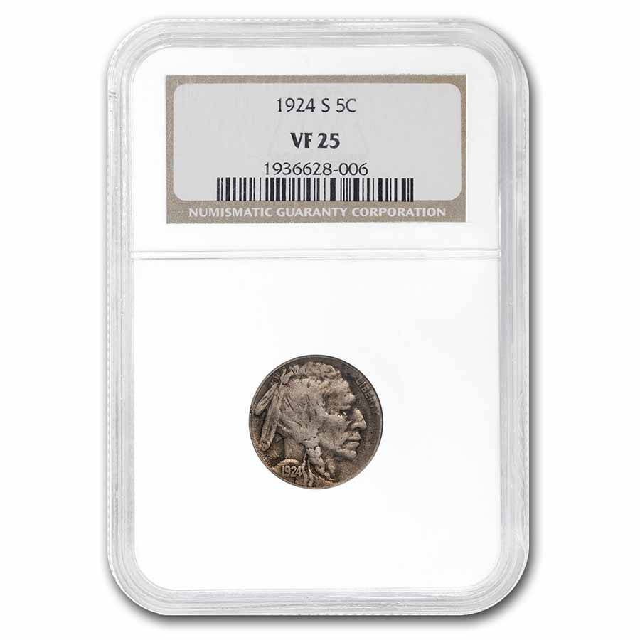 1924-S Buffalo Nickel VF-25 NGC