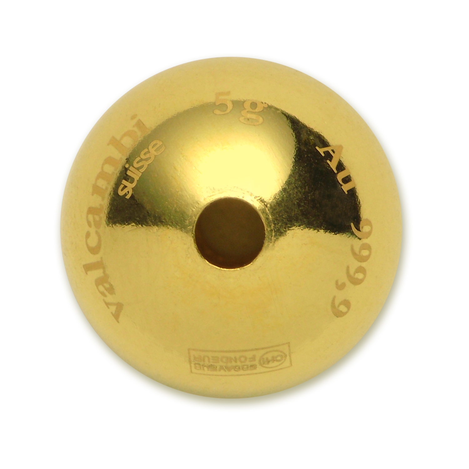 2015 5x 5 gram Cook Islands $20 Gold Sphere Coin Valcambi