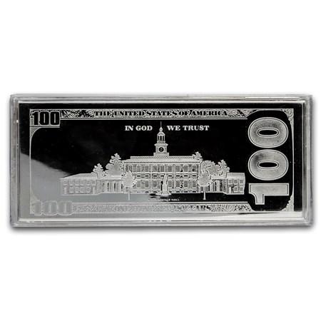 4 Oz Silver Bar 2016 100 Bill W Box Amp Coa Silver