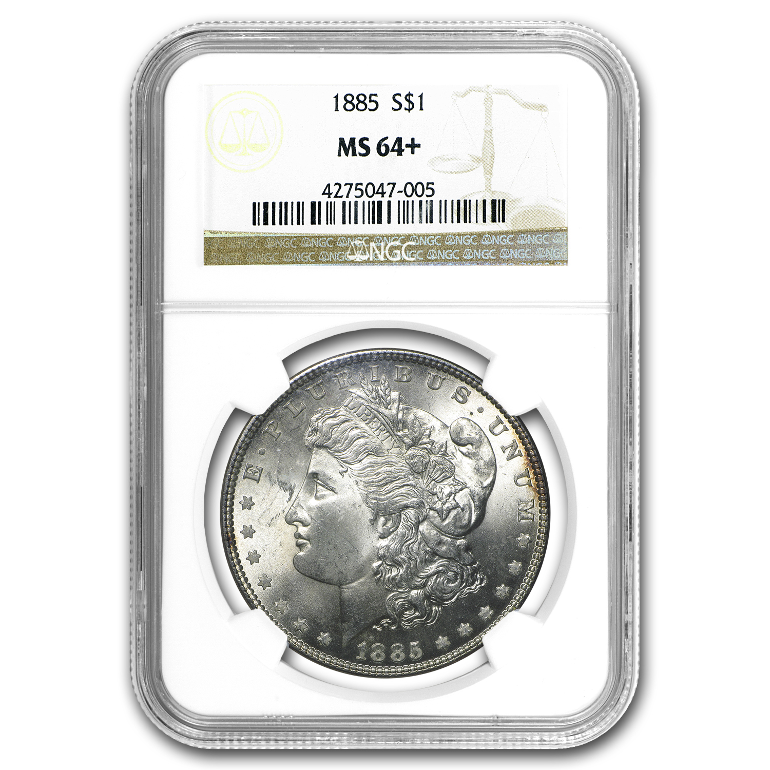 1885 Morgan Dollar MS-64+ NGC