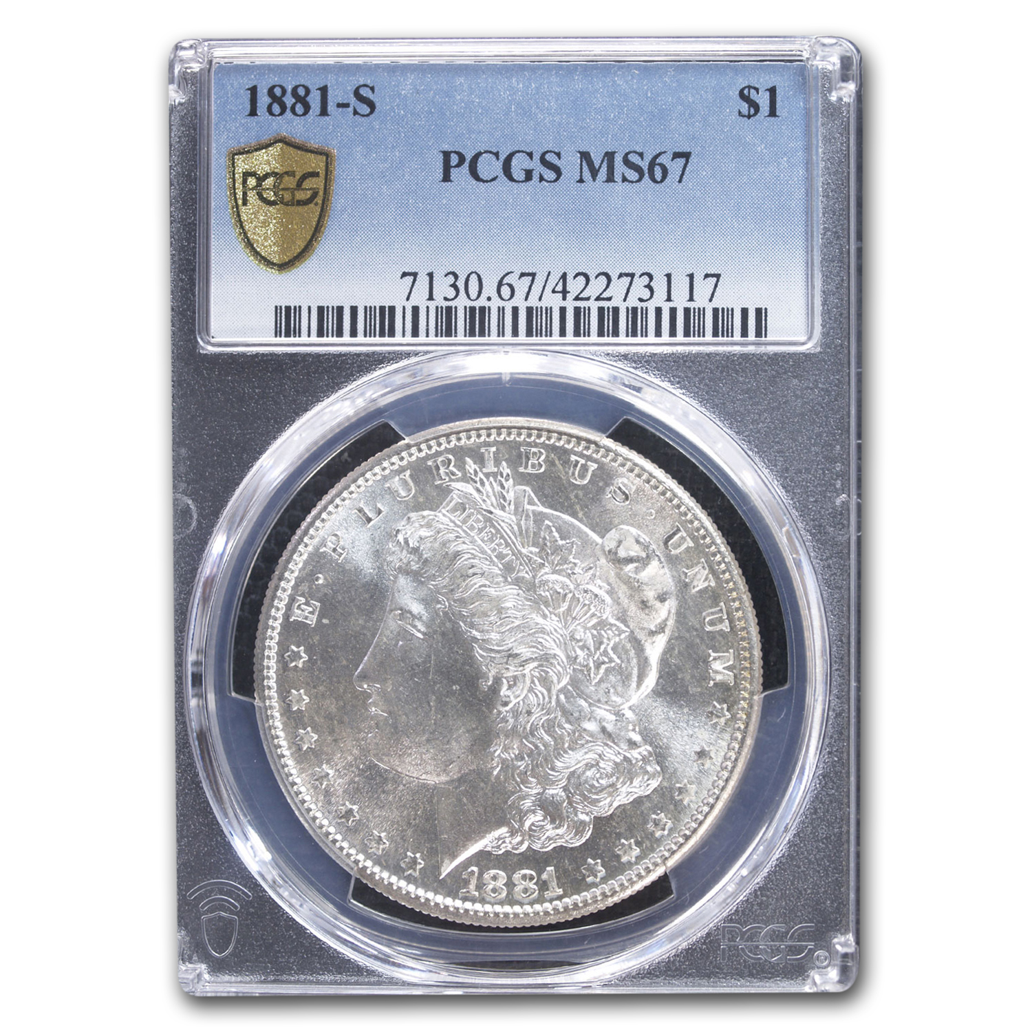 1881-S Morgan Dollar MS-67 PCGS (Beautiful Toning)