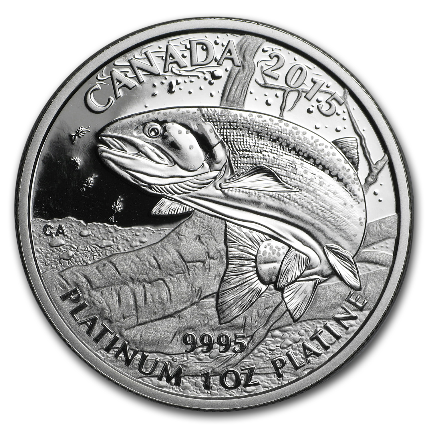 2015 Canada 1 oz Proof Platinum $300 Rainbow Trout