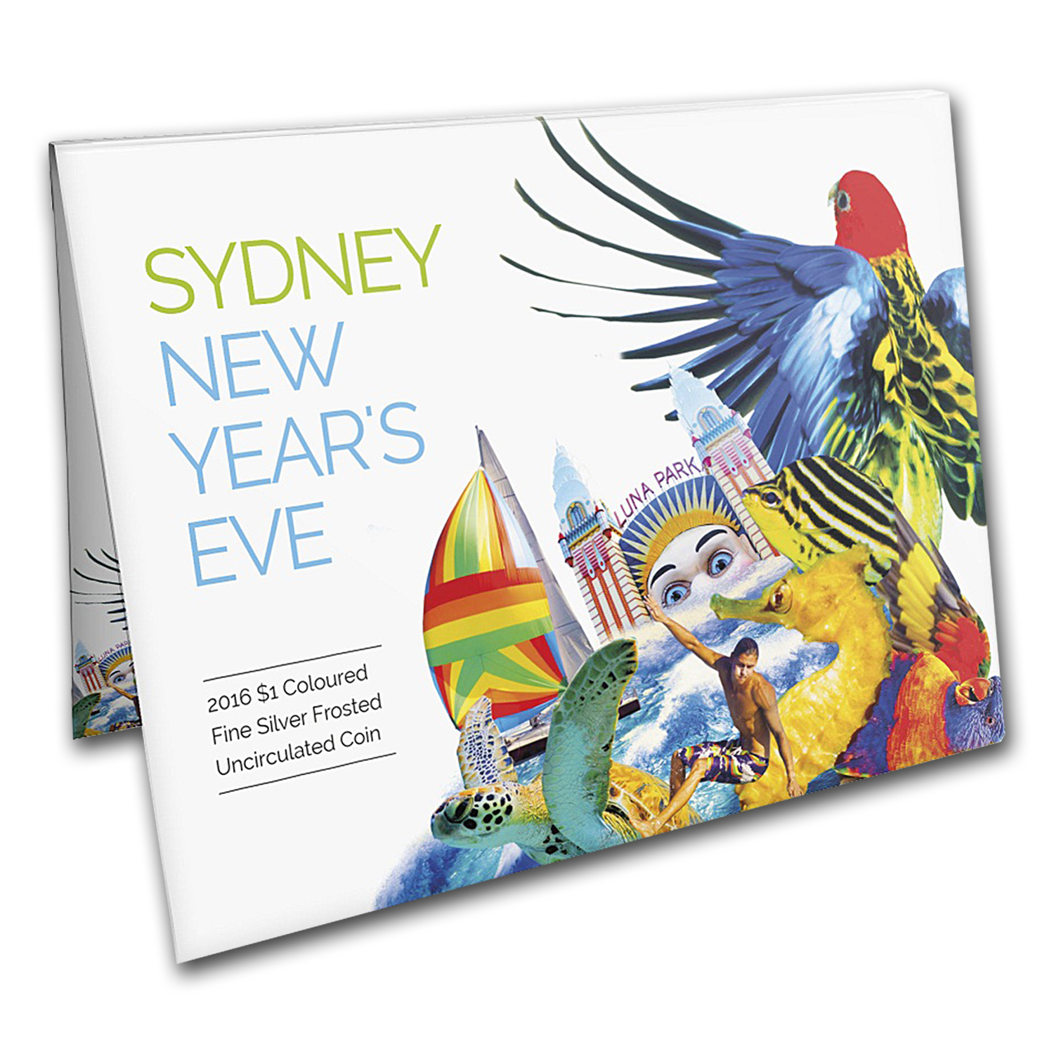 2016 Australia Silver $1 Sydney New Year's Eve Frosted Coin
