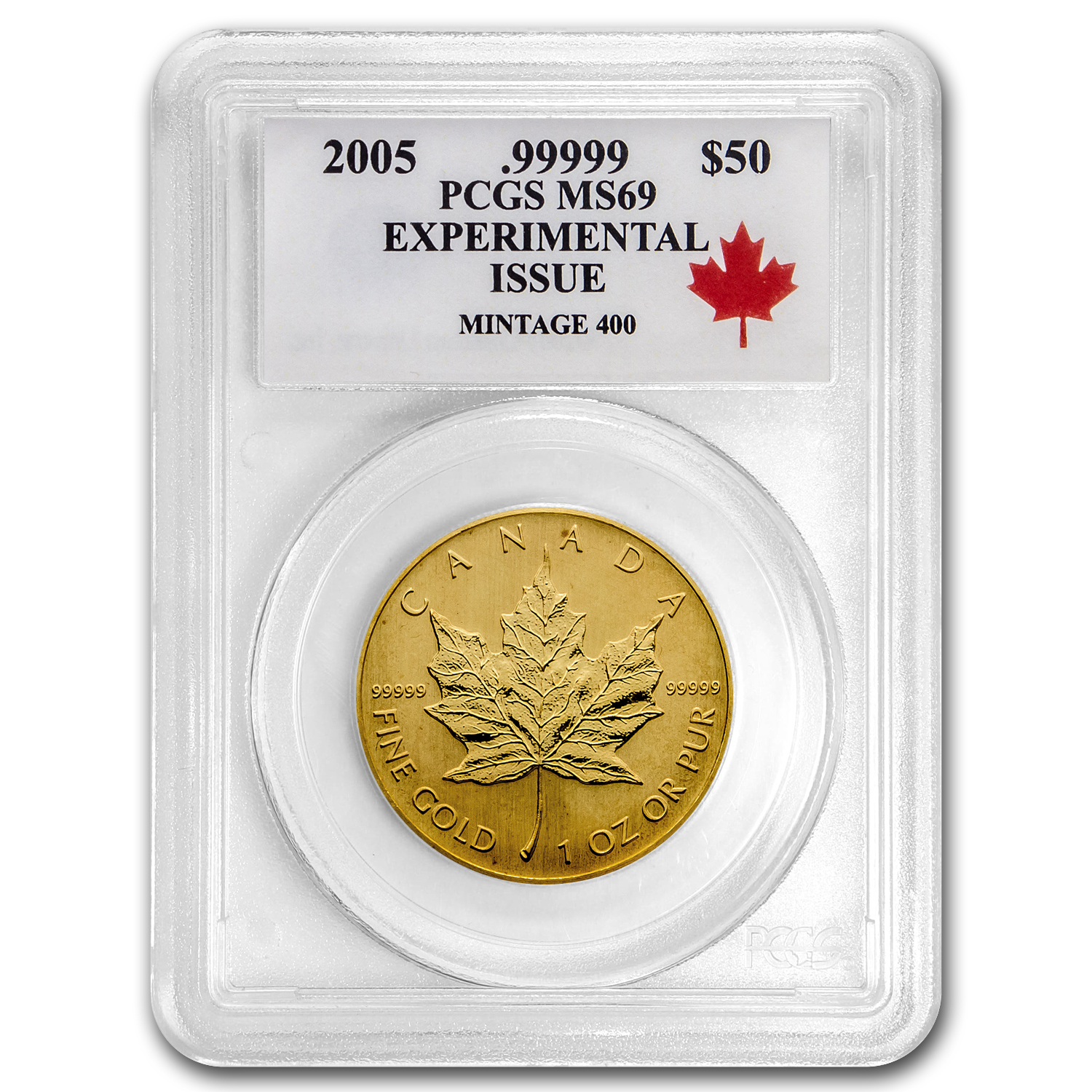 2005 Canada 1 oz Gold Maple Leaf MS-69 PCGS (.99999 Fine)